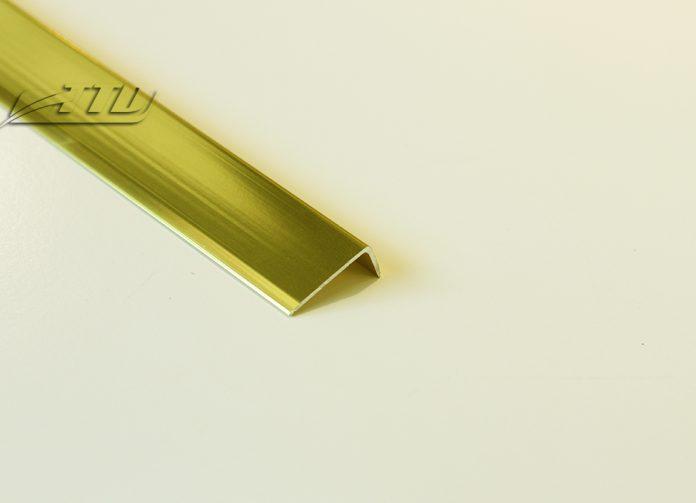 Nẹp nhôm L20 màu vàng bóng