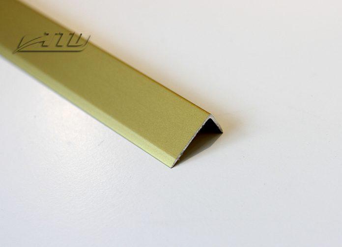 Nẹp nhôm L20 màu vàng mờ