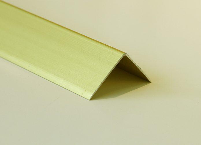 Nẹp nhôm V30 màu vàng mờ