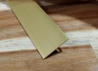 Nẹp nhôm T25 màu vàng mờ